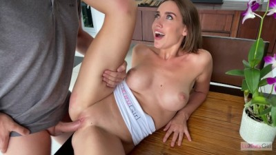 Xnxbrazzers - Fucked My Babe Girlfriend On The Kitchen Table