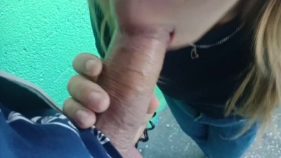 I took Cum on my Face in the Entrance - Beautiful girl beeg