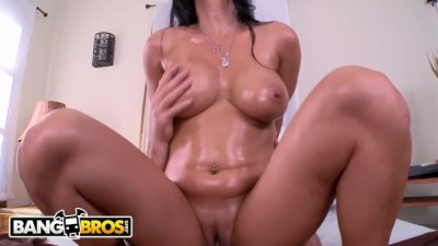 Busty Latina MILF gets creampie filling