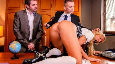 Schoolgirl Victoria Pure takes anal like a champ - Porno Academie