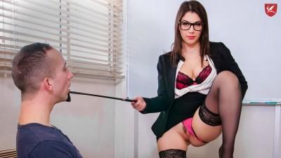 Wild DP threesome with teacher Valentina Nappi - Porno Academie