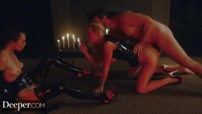 Kayden Kross and Her Husband Using Fuck Doll Aidra Fox
