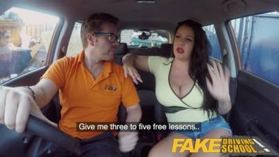Fake Driving - School Big boobed babe public sex