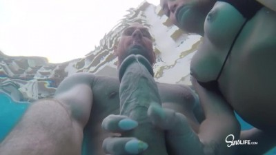 Hot Vacationing Couple Fuck Around