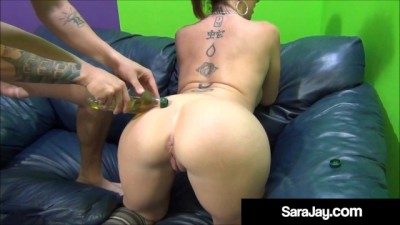 Curvy Cougar Sara Jay Creams her Big Booty for a Good Fuck!