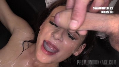 PremiumBukkake - Kate Rich Swallowing 85 Loads in Bukkake