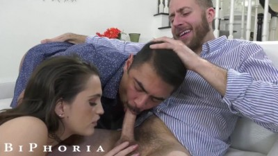 BiPhoria - Bixexual Couple Fucks Stranded Guy
