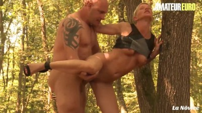 AmateurEuro - Slutty French MILF Screams Loud getting Drilled in the Forest