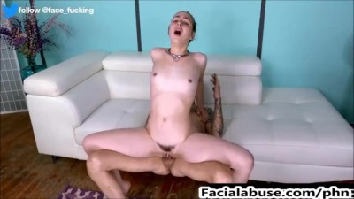 Cute Whore Gets a Rough Facefuck & Painal