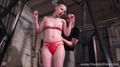 Bald Submissive Erynn Rose Suspension Bondage and Tied up Whipping