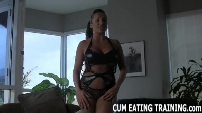 Cum Eating Instruction and POV Femdom Porn