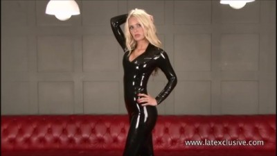 Sexy Softcore Model Alessandras Latex Fetish and Rubber Outfits in Heels