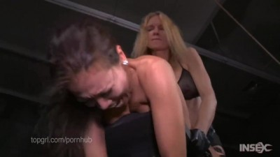 Slender Asian Slut Fucked Hard by Lezdom Strapon