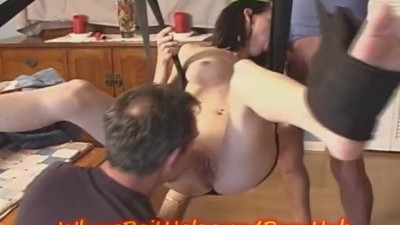 Teen Baby Sitter Gets a TRIPLE FUCKING