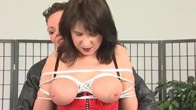 Busty Whore Tied by her Domina