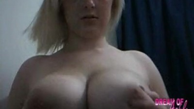 Dream of Ashley as she Plays with her Giant Tits Live on Cam!