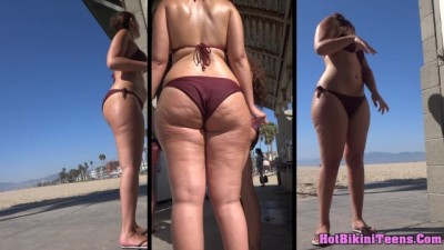 Hot Bikini Teens Beach Voyeur Bikini Spy Close-Up 4K UHD Video 10